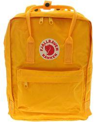 Fjällräven Kånken - Yellow Polyurethane Backpack - Lyst