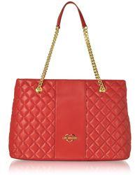 5280855608b Love Moschino - Red Polyurethane Shoulder Bag - Lyst
