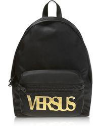 Versus Black Polyester Backpack