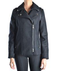 Guess - Black Wool Outerwear Jacket - Lyst