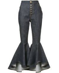 Ellery | Hysteria Crop Flared Jeans | Lyst