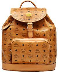 MCM - Heritage Single Pocket Rucksack In Visetos - Lyst