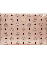 MCM - Zip Pouch In Visetos Original - Lyst