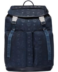 2a8e95f78d64 MCM Dieter Monogram Medium Nylon Backpack in Blue for Men - Lyst