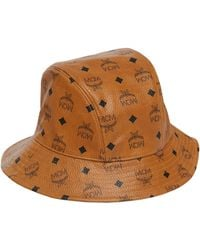 e329e7bbd43 Lyst - Mcm Visetos Bucket Hat in Brown for Men