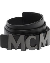 """MCM - Letter Belt 1.5"""" In Nappa Leather - Lyst"""