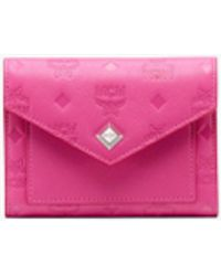 1efdcdcf87a94e MCM - Love Letter Three-fold Wallet In Monogram Leather - Lyst