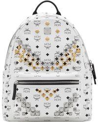 MCM - Stark M Studs Backpack In Visetos - Lyst