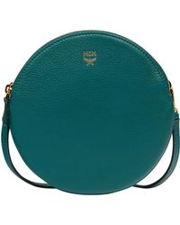 MCM - Double Tambourine Crossbody In Grained Leather - Lyst