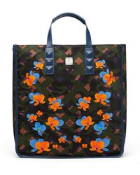 MCM - Dieter Tote In Floral Camo Nylon - Lyst