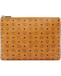 MCM - Crossbody Pouch In Visetos Original - Lyst