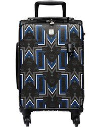 MCM - Traveller Gunta M Stripe Cabin Trolley In Visetos - Lyst