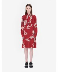 "McQ - ""japanese Floral"" Pin Tuck Dress - Lyst"