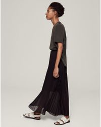 ME+EM - Double Layer Pleated Skirt - Lyst
