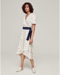 ME+EM - Floral Wrap Midi Dress - Lyst