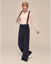 ME+EM - Cord Trousers With Braces - Lyst