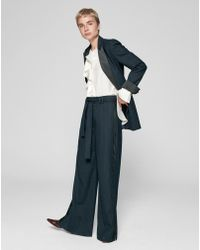ME+EM - Pinstripe Wide Leg Belted Pant - Lyst