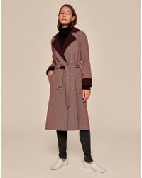 ME+EM - Microcheck Trench Coat - Lyst