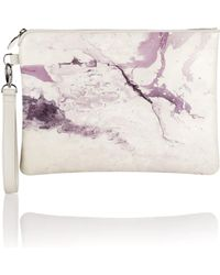 meli melo - Marble Print Oversized Clutch Bag - Lyst