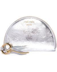 meli melo - Half Moon Wallet | Silver - Lyst