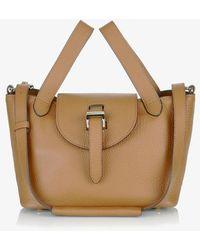 meli melo - Thela Mini Cross Body Bag Light Tan - Lyst