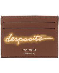 "meli melo - Leather Card Holder   ""despacito""- Olivia Steele   Almond Neon - Lyst"