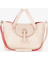 meli melo - Thela Medium | Tote Bag | Saturn Nude And Mars Red - Lyst
