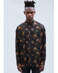 Mennace - Black Rose Print Relaxed Shirt - Lyst