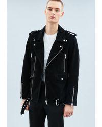 Mennace - Black Suede Biker Jacket - Lyst