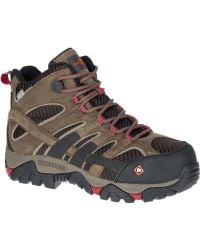 Merrell - Moab 2 Vent Mid Waterproof Comp Toe Work Boot - Lyst