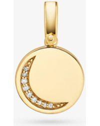 Michael Kors - 14k Gold-plated Sterling Silver Crescent Charm - Lyst