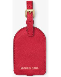 Michael Kors - Jet Set Travel Saffiano Leather Luggage Tag - Lyst