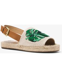 Michael Kors - Fisher Palm Embroidered Espadrille - Lyst