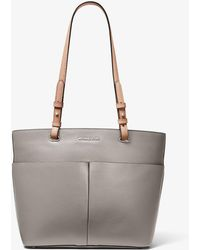 4f9279ad3123 Lyst - MICHAEL Michael Kors Large Bedford Leather Dressy Tote Bag in ...