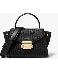 Michael Kors - Bolso satchel Whitney mini de piel acolchada estilo déco - Lyst