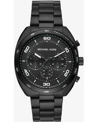 Michael Kors - Men's Dane Black Ip Watch - Lyst