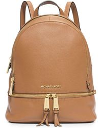 e436425e5e88 Michael Kors - Rhea Small Leather Backpack - Lyst