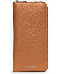 Michael Kors - Harrison Leather Zip-around Wallet - Lyst