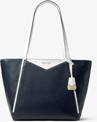 5654979c1f630 Michael Kors Anabelle Large Leather Tote in Metallic - Lyst