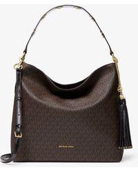 Lyst - Michael Kors Brooklyn Large Leather Shoulder Bag fd7d81c8df