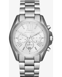 Michael Kors - Oversize Bradshaw Silver-tone Watch - Lyst