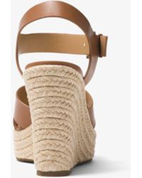 Michael Kors | Kady Leather Wedge | Lyst