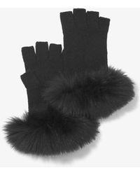 Michael Kors - Fur-trimmed Cashmere Gloves - Lyst