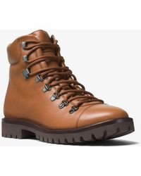 Michael Kors - Lance Leather Hiking Boot - Lyst