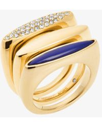 Michael Kors - Gold-tone Stacking Rings - Lyst
