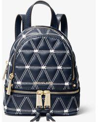 b065183cd9e3 Michael Kors - Rhea Mini Quilted Leather Backpack - Lyst