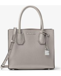 Michael Kors - Mercer Medium Leather Cross-Body Bag - Lyst
