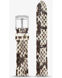 Michael Kors - Runway Snake-embossed Leather Watch Strap - Lyst