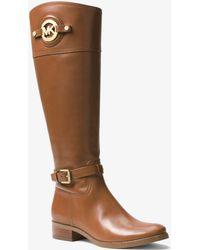 Michael Kors - Stockard Leather Knee-High Boots - Lyst