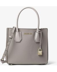 Michael Kors - Mercer Pebbled Leather Accordion Crossbody - Lyst